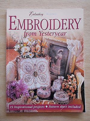 Embroidery From Yesteryear~19 Projects~Craftworld Books~96pp P/B~1999