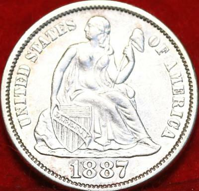 1887-S Silver San Francisco Mint Seated Liberty Dime