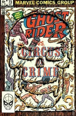 Ghost Rider (1st Series) #73 1982 VG Stock Image Low Grade