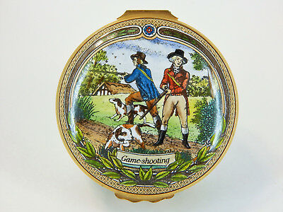 Halcyon Days Hinged Box Enamel Over Copper - James Purdey & Sons Gunmakers