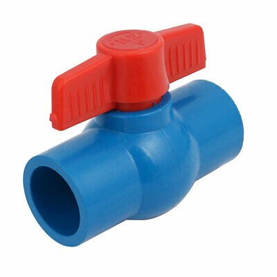 Water Pipe Plastic Straight Ball Valve Connector for 32mm Diameter Tube