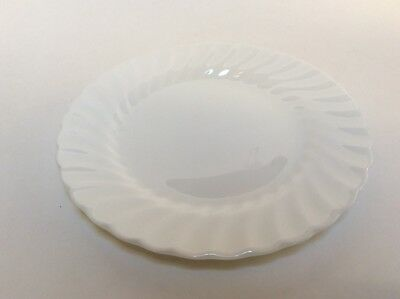 Wedgwood Candlelight White Swirl Bread & Butter Plates s 6 3/4""