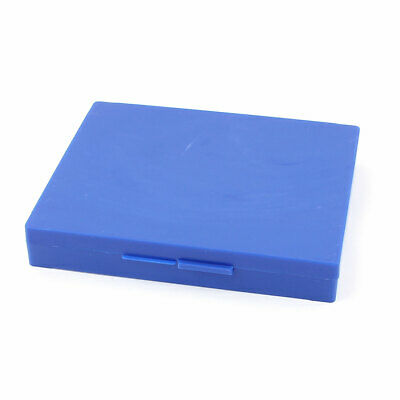 Blue Plastic 100 Compartments Glass Slide Box Microscope Storage Case