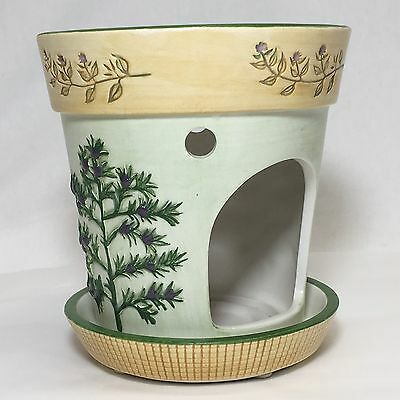 Yankee Candle Company Flower Pot Berries Pine Tart Wax Melt Burner Tea Light