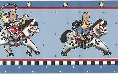 5 Pkgs New DAISY KINGDOM Horse Cowboy Bunny WALLPAPER BORDER Total 25 yds Borden