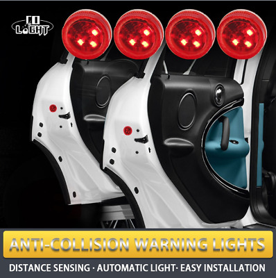 2pcs Universal Car Door LED Opened Warning Wireless Anti-collid Flash Light Kits