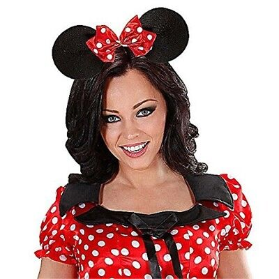 Miss Mouse Ears Headband W/bow - Wbow Hat Accessory Creature Mickey Danger