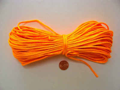 Fil Queue de rat 2mm en echeveau 18m cordon satiné ORANGE DIY loisirs bijoux