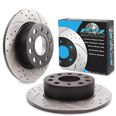 SEAT Leon 2.0 TDi 184bhp 13 Front Rear Brake Discs /& Pads Drilled Grooved