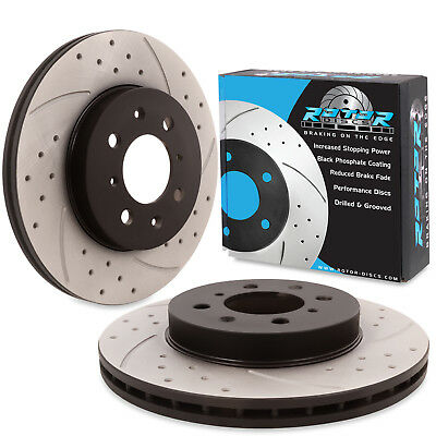 FRONT DRILLED GROOVED 262mm BRAKE DISCS FOR ROVER MG ZR ZS 25 45 200 1.6 1.8 16V