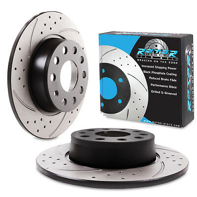 REAR GROOVED DRILLED 272mm BRAKE DISCS FOR AUDI A3 S3 1.8 2.0 TDI TFSI QUATTRO