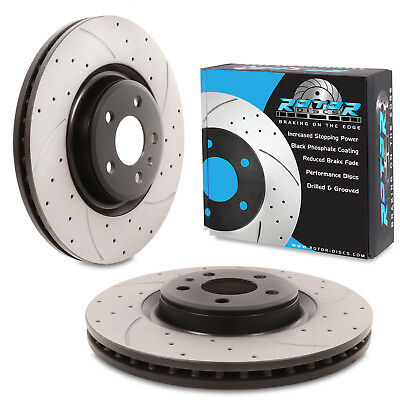 FRONT DRILLED GROOVED 345mm BRAKE DISCS FOR AUDI A4 A5 S6 A7 Q5 TFSI V6 TDI