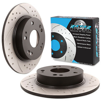 REAR GROOVED DRILLED 260mm BRAKE DISCS PAIR FOR HONDA CIVIC 1.3 1.4 1.8 2.2 CTDi