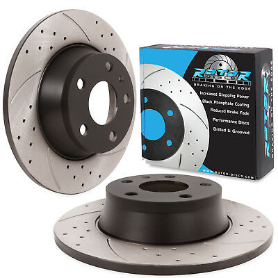 REAR GROOVED DRILLED 286mm BRAKE DISCS FOR AUDI TT 8J 1.8 2.0 TFSI TDI QUATTRO