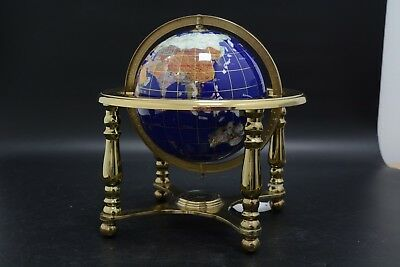 Brass mounted globe with inbuilt compass (GT/11)