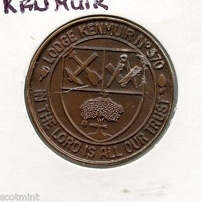 LODGE Kenmuir NUMBER 570 MASONIC  PENNY  TOKEN
