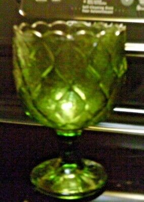 Green glass Compote retro