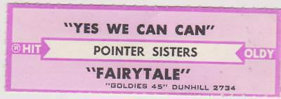 Pointer Sisters-Yes We Can Can- Jukebox Title Strip