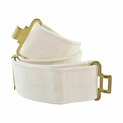 Original British Military Pistol Web Belt, White, New British Military Surplus