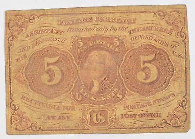 1862-1863 Five Cents 1st Issue Fractional Currency *722