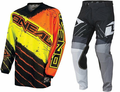 One Industries Motocross Mx Bike Kit Vapor Pants + Oneal Black Orange Jersey