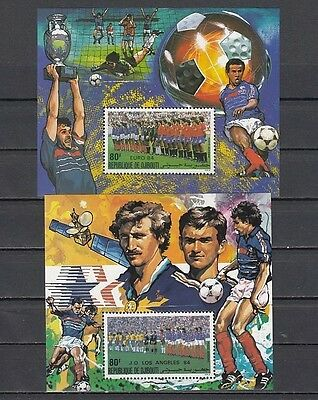 Djibouti, Scott cat. C209-C210. World Cup Soccer Deluxe s/sheets.
