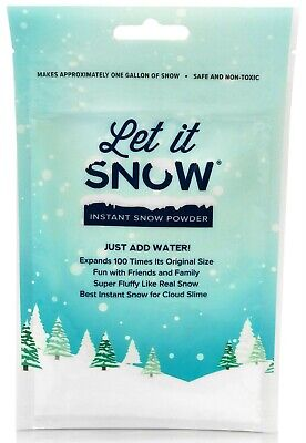 Instant Snow Powder for Slime - Let it Snow Perfect Fake Snow for Cloud Slime!