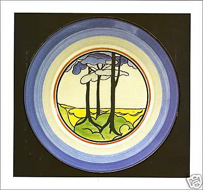 Clarice Cliff Card - BLUE FIRS
