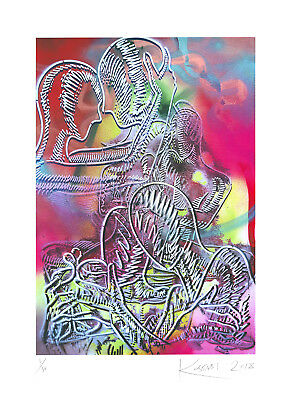 Mark Kostabi - Dreams within Dreams - Originalpigmentgrafik - handsigniert- 2018