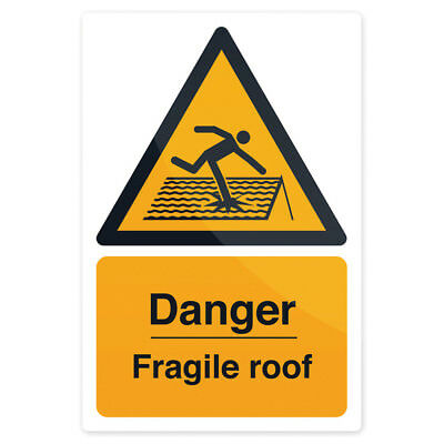 Fixman Danger Fragile Roof Sign 200 x 300mm Rigid | 297018
