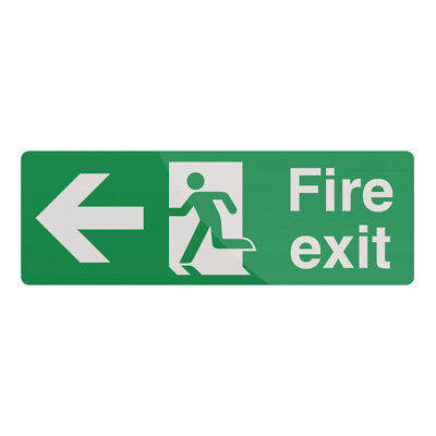 Fixman Fire Exit Arrow Sign 400 x 150mm Rigid Left | 898990