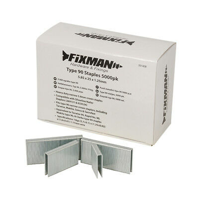 Fixman Type 90 Staples 5000pk 5.80 x 25 x 1.25mm | 331428