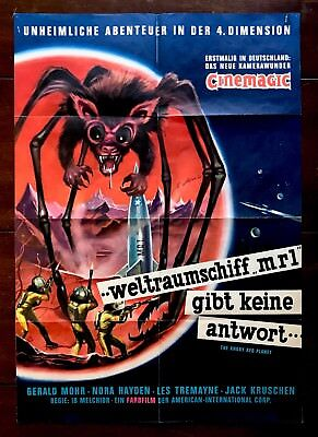 The Angry Red Planet 1959 German Poster Gerald Mohr Nora Hayden Les Tremaine