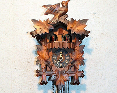 *Old Cuckoo Clock Wall clock Chime Cuckoo Black Forest *Regula* with Carillon*