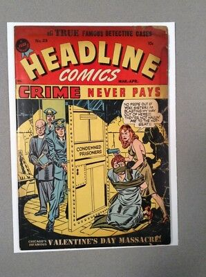 Headline #23 Mar/Apr 1947 G/VG Jack Kirby cover, Bondage Cover