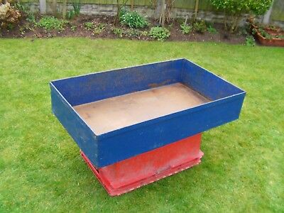Industrial Steel Parts Tray Or Trolley Top. Oil Drum Tray. Oil Drip Tray