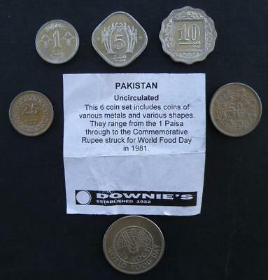 1977-1988 Pakistan Mint Set Uncirculated