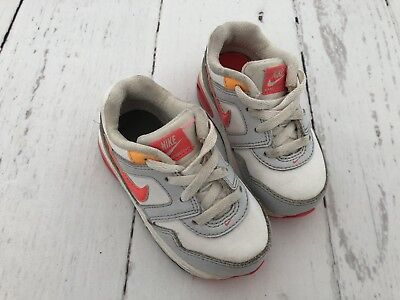 Toddler Girls * Nike Air Max * Pink Grey White Trainers - Infant Size 5.5