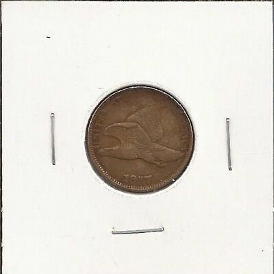1857 Flying Eagle Cent, 1¢ Penny, circulated Very Fine, Nice! CP13