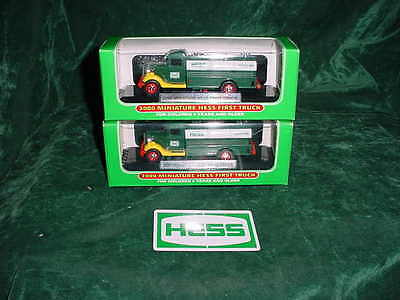 Great For Easter Basket Gift Two 2000 Hess Toy Trucks Mini First Trucks Mib Toys