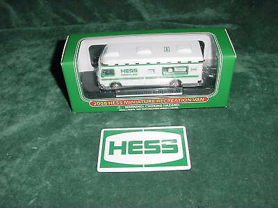 Christmas Xmas Travel Holiday Mini 2008 Hess Trucks Toy Recreation Van 08 Mib **