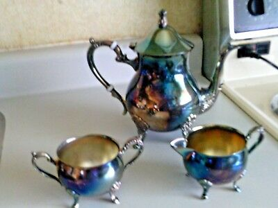Silver plated Coffee / Tea / Chocolate set no monogram footed