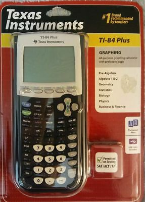 Texas Instruments TI-84 Plus  Graphing Calculator BRAND NEW SEALED FREE SHIPPING