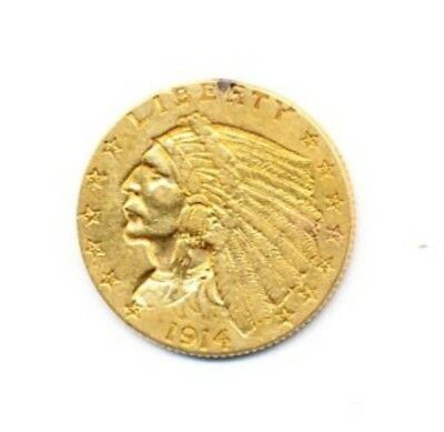 1914 $2.5 Indian Head Gold Exact Coin From A Near Complete Collection FREE Ship