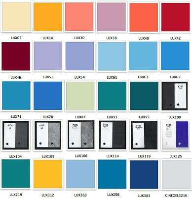 """31 Assorted ROSCOLUX 24""""X20"""" Full Sheets Color Stage Lighting Gel Filter (#11)"""