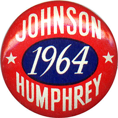 Sharp 1964 Lyndon JOHNSON Hubert HUMPHREY Logo Button (1472)