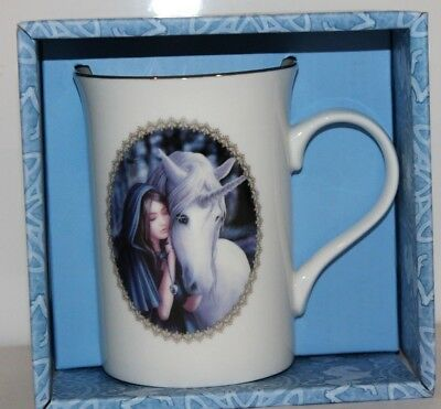 Anne Stokes Coffee Mug Cup bone China Gothic fantasy Unicorn Solace mug