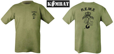Mens Army R.E.M.E Corps Royal Electrical Mechanical Engineers REME T-shirt Green