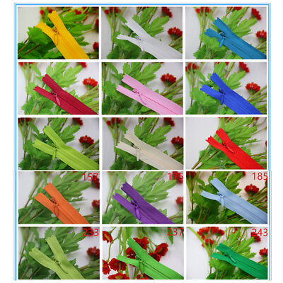 10pcs/50pcs Invisible Zip / Zipper Nylon Closed End Tailor Coil Sewing Craft Lot