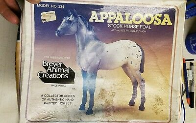 Breyer Gray Appaloosa Stock Horse Foal With Box Family Quarter Grey Mint Colt
